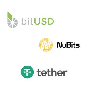 logos bitUSD NuBits tether stablecoins Defi