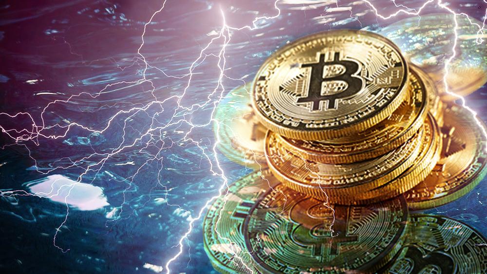 rayos alza criptomonedas inversión