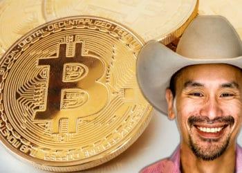 Jimmy Song frente a monedas de Bitcoin. Composición por CriptoNoticias. Jimmy Song / twitter.com; Sonyachny / elements.envato.com