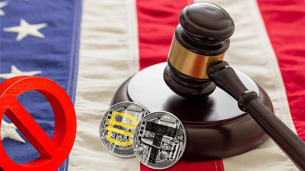 Regulación y prohibición de stablecoins en Estados Unidos. Composición por CriptoNoticias. Maker Dao / makerdao.com; Tether / wikimedia.org; twenty20photos / elements.envato.com; johan10 / elements.envato.com; rawf8 / elements.envato.com