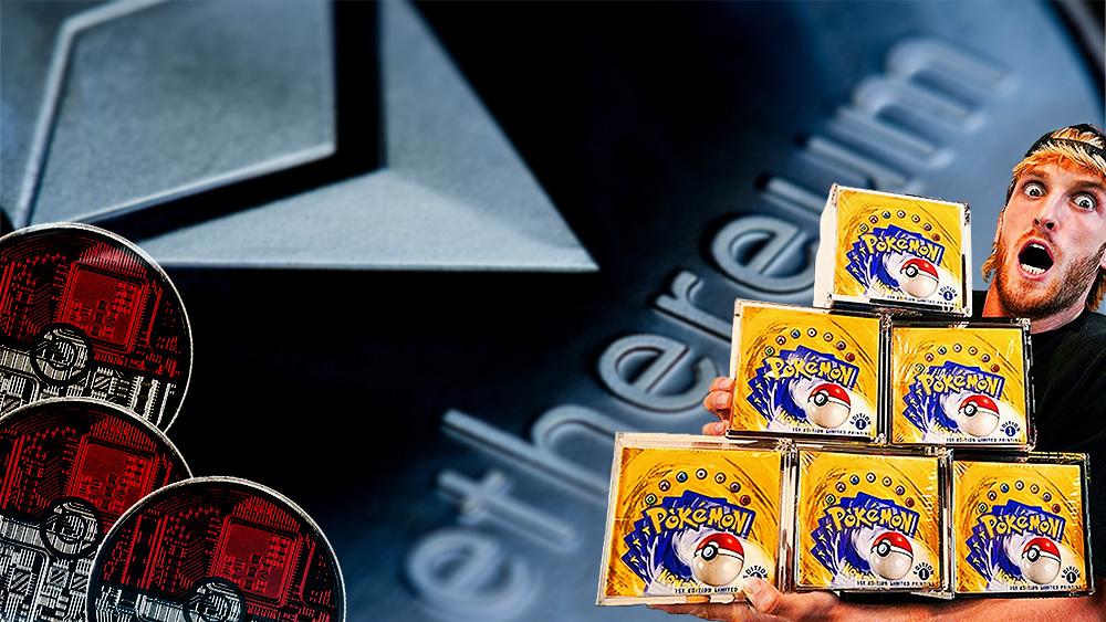 pokemon cartas tokens ethereum youtuber logan paul