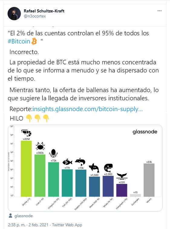 camarones tibirones ballenas bitcoin
