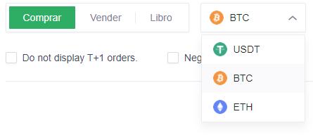 usuarios compra opciones intercambio