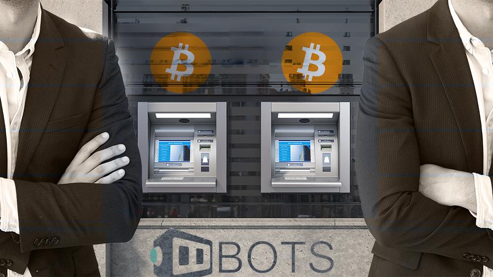 Abogados frente a cajeros de bitcoin con logo de BOTS. Composición por CriptoNoticias. bitcoin / bitcoin.org; mimagephotography / elements.envato.com; BOTS / bots.bz; maxxyustas / elements.envato.com.