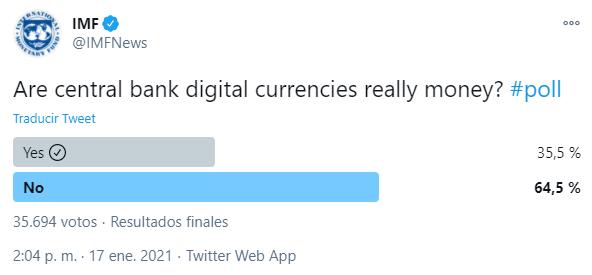 encuesta monedas digitales bancos centrales FMI