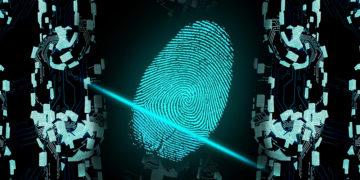 Huella digital en scaneandose con cadenas blockchain.