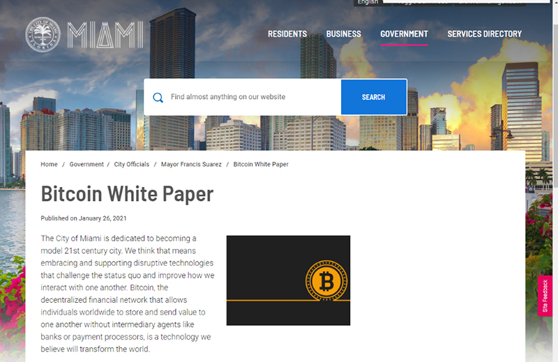 pagina web miami libro blanco bitcoin