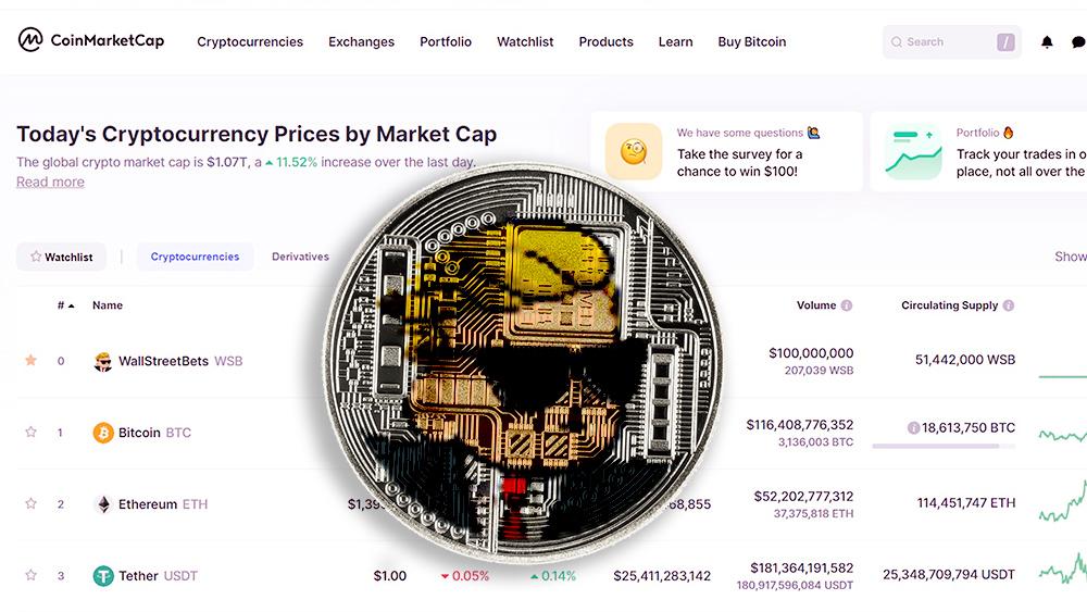 parodia token wallstreetbets coinmarketcap mercado criptomonedas
