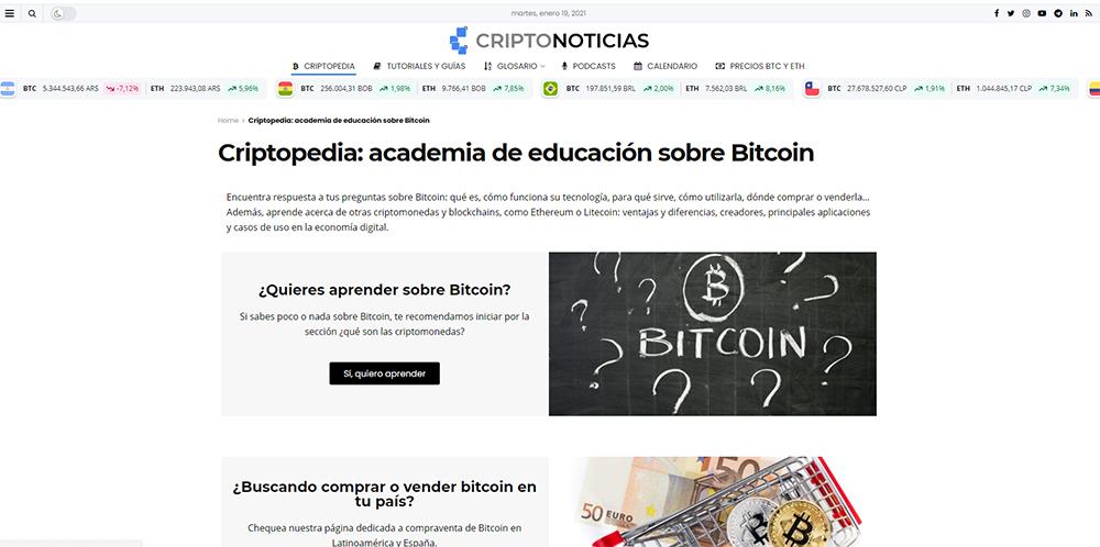 portada criptonoticias criptopedia