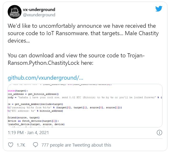 tweet vx underground