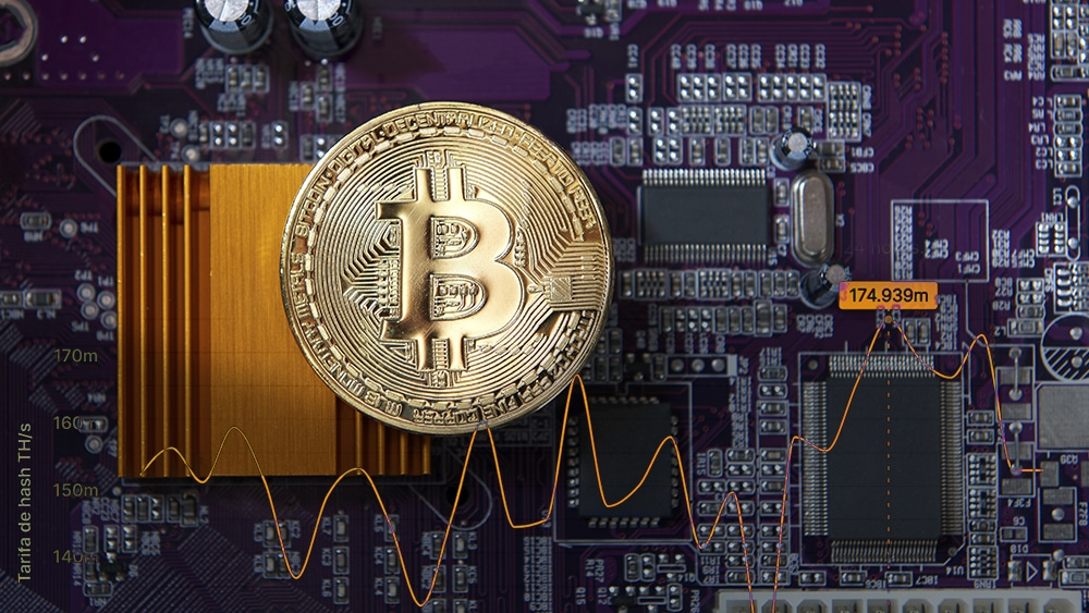 red bitcoin procesamiento hash rate alto histórico
