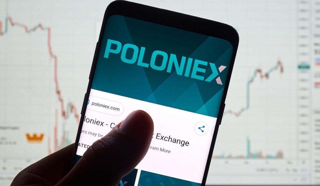 Logo del exchange de Bitcoin Poloniex en dispositivo móvil
