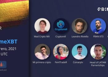 Participantes del webinar sobre criptomonedas de Prime XBT