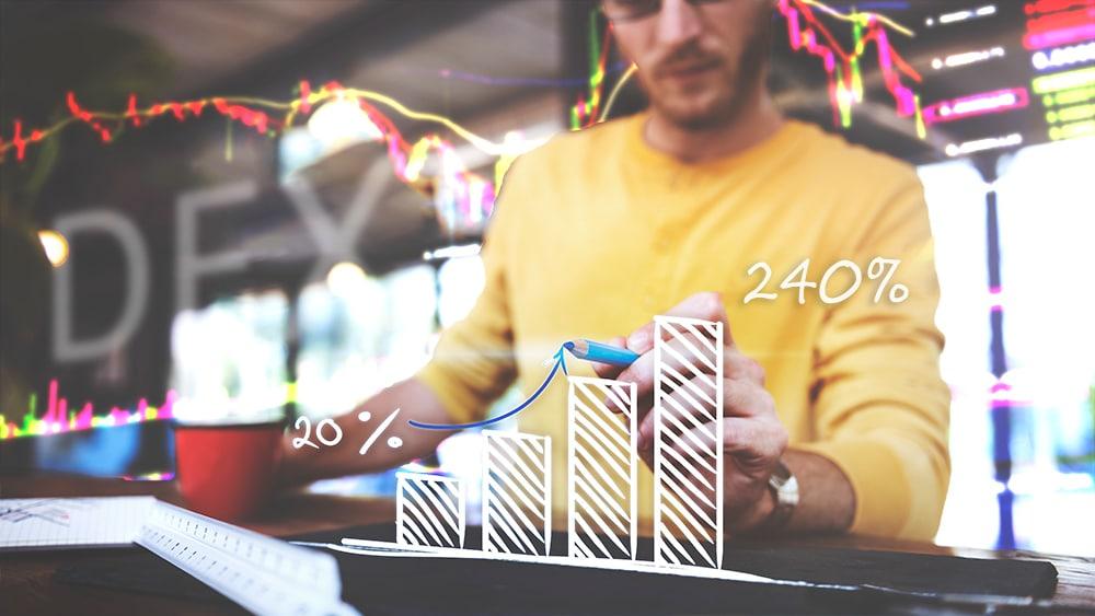 aumento volumen trading plataformas DEX ethereum