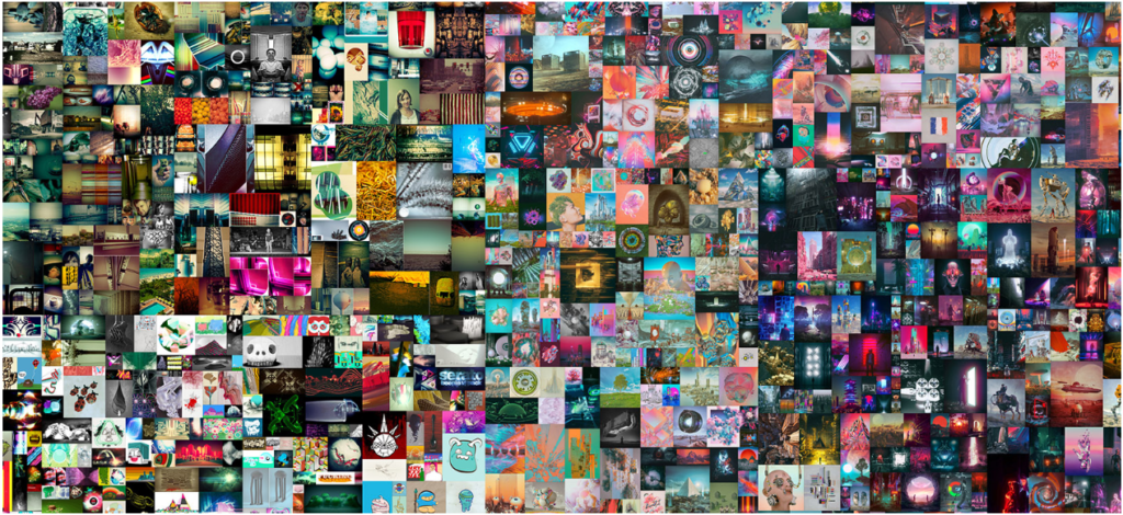 collage beeple christie