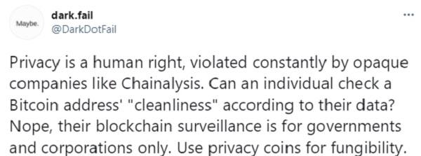 dark.fail chainalysis viola derecho privacidad