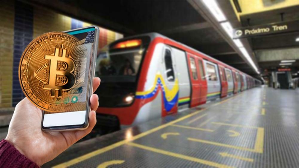 adopción criptomonedas bitcoin venezuela metro caracas
