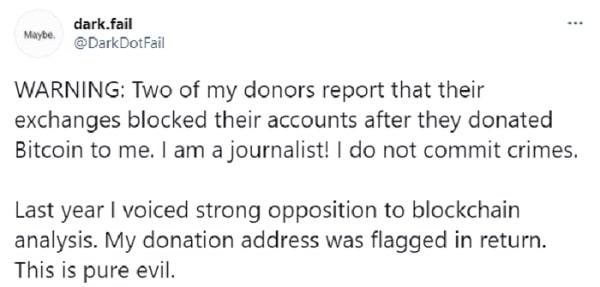 opinion dark.fail bloqueo cuentas