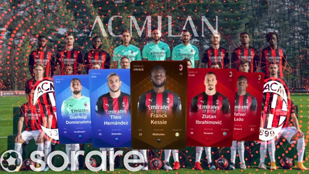 cartas coleccionables futbol fantasy sorare AC milan