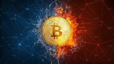 Bitcoin entre hielo y fuego
