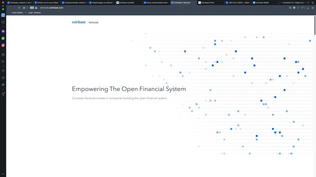 Coinbase - financiamiento - criptomonedas - inversiones