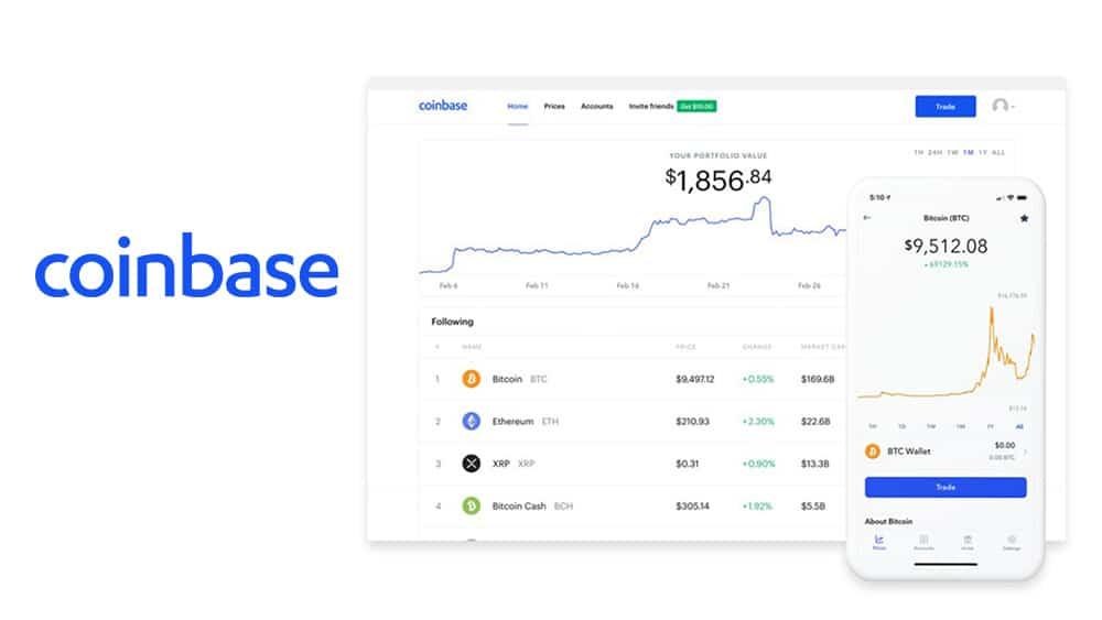 servicios app de Coinbase - plataforma de intercambios de criptomonedas