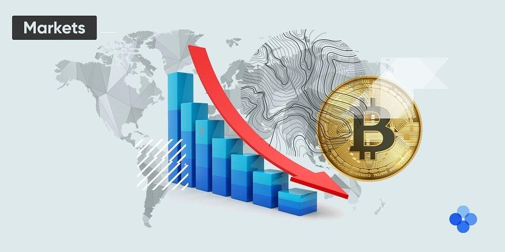 Gráfico descendiente de comisiones de trading