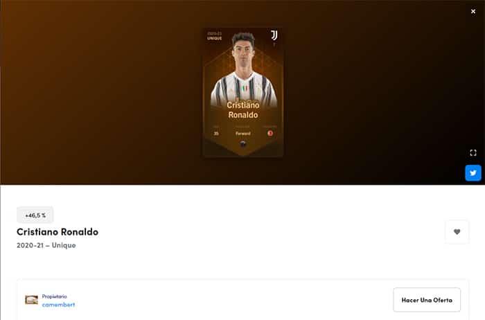 token NFT Cristiano Ronaldo Sorare