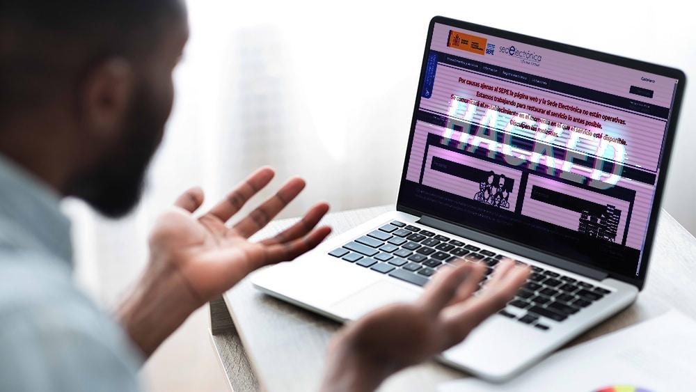 página busqiueda empleos españa ataque ransomware