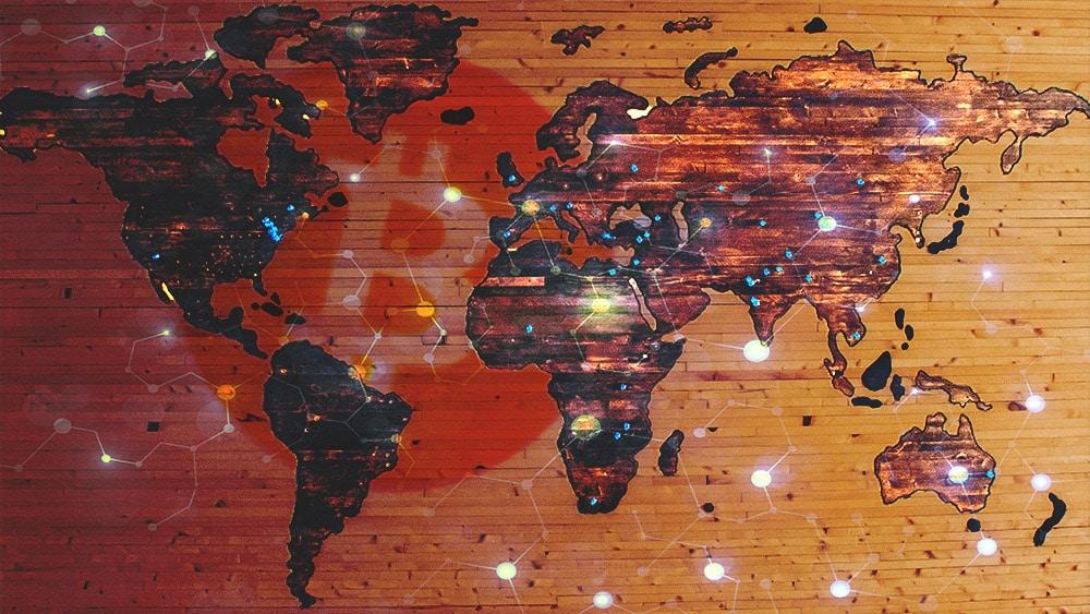 nodos red bitcoin distribución mundo