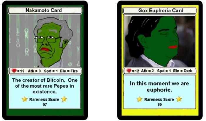 tokens coleccionables Rare Pepes bitcoin
