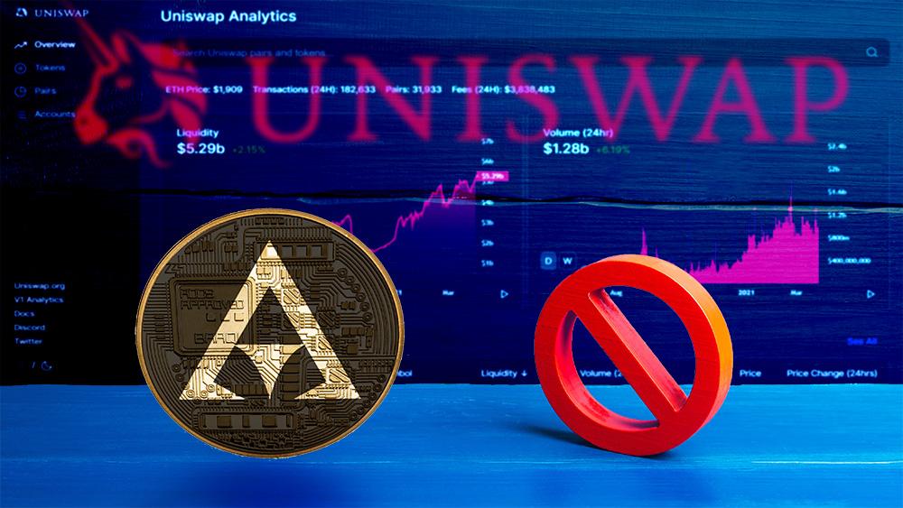 deslitar token plataforma Defi Uniswap