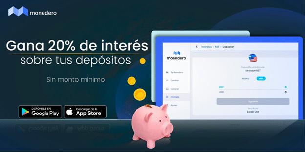 Servicio de depósitos con intereses de la wallet Monedero