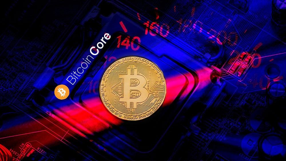 bitcoin core velocidad