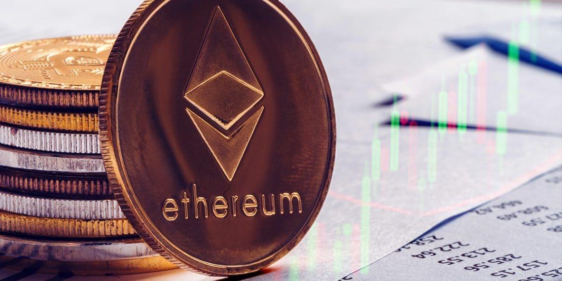 Moneda Ether con señales de trading