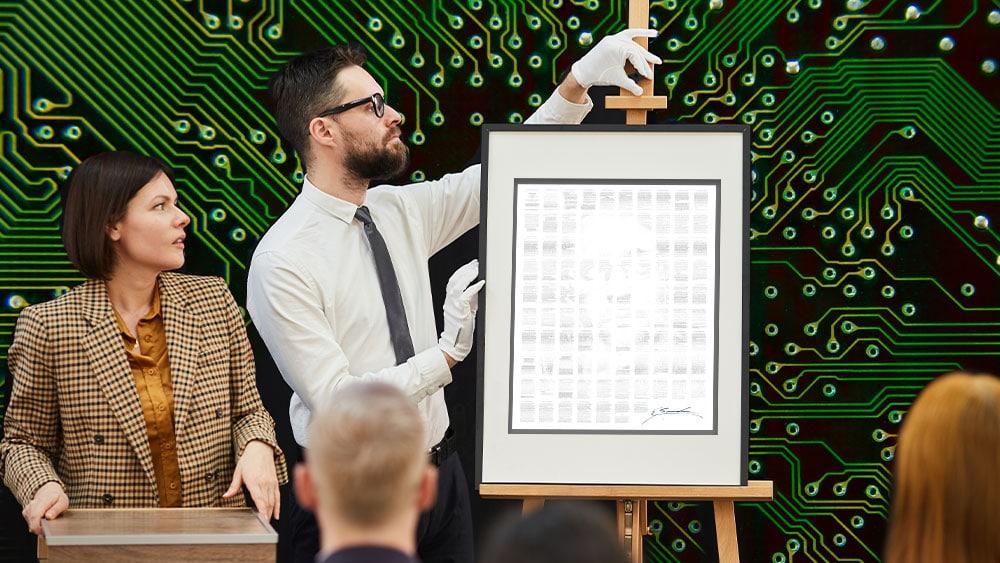 Subasta de arte y obra Stay Free. Composición por CriptoNoticias Fuentes:  AnnaStills  /  elements.envato.com  ;  NomadSoul1 /  elements.envato.com .