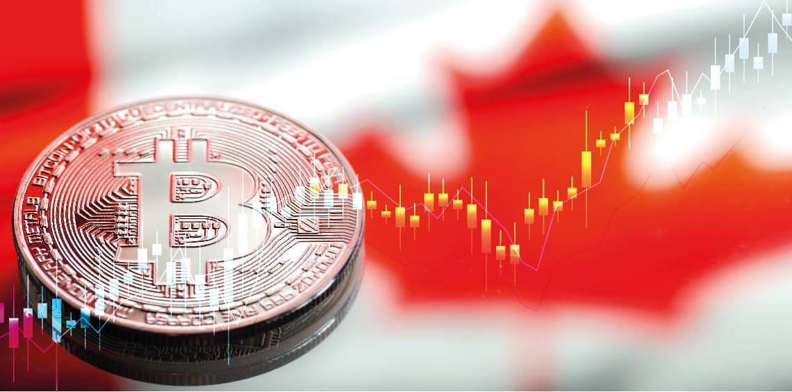 bitcoin canada gráfico en alza