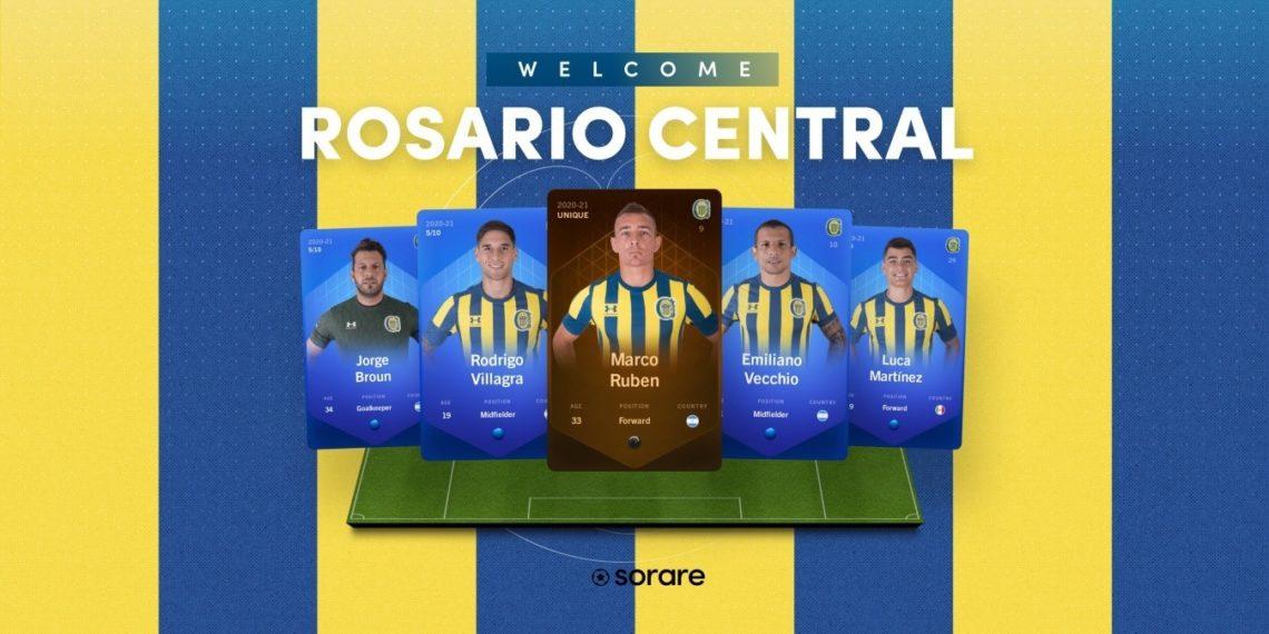 Rosario Central llega a la plataforma de fútbol fantasy con NFT de Soare. Fuente: Sorare.