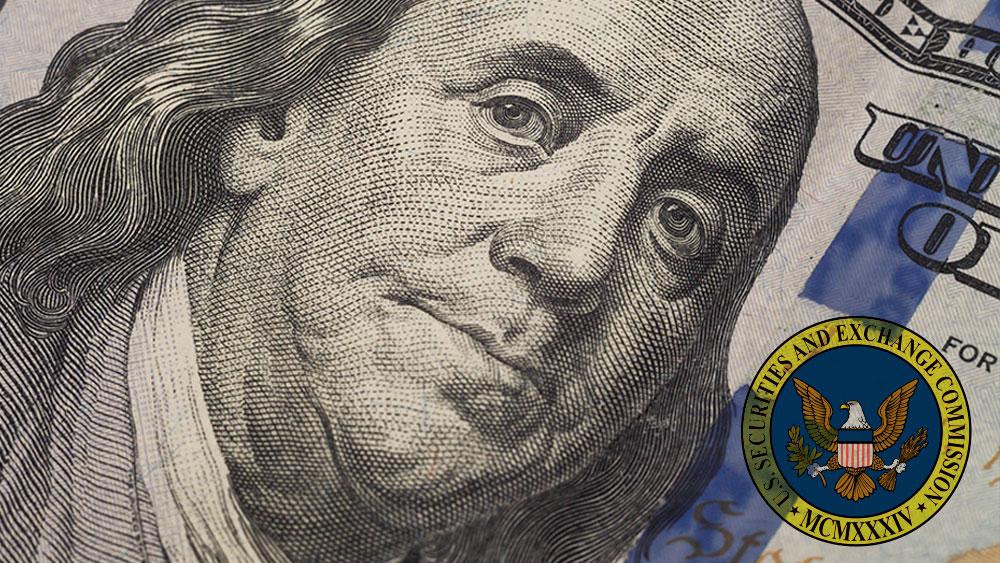 Billete de dolar con logo de SEC.