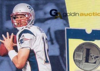 tom brady coleccionable litecoin goldin auctions