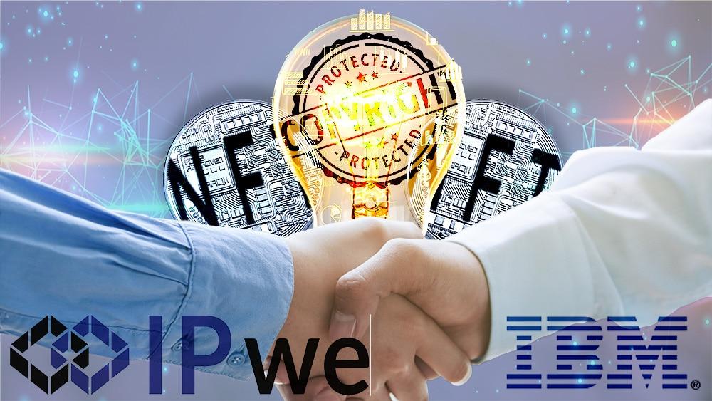 asociación IBM IPwe propiedad intelectual nft tokens