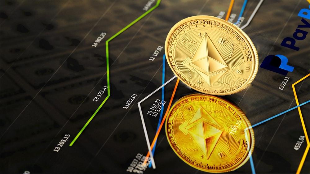 ethereum supera capitalización paypal aumento precio criptomoneda