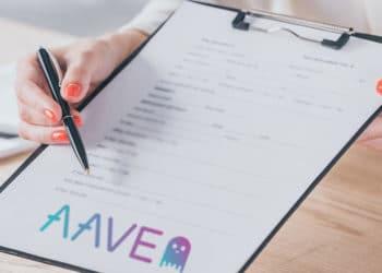 Formulario con logo de Aave.