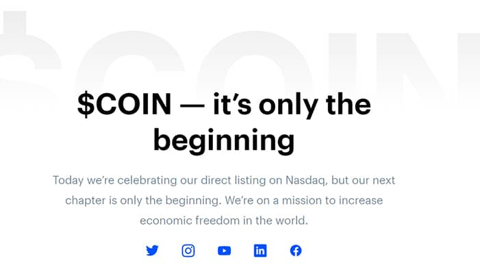 coinbase anuncia llegada Wall Street