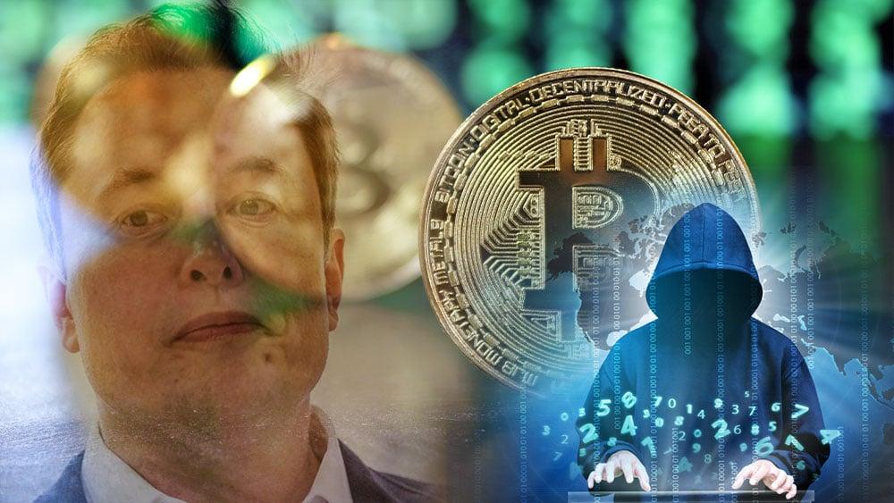 Bitcoins Elon Musk y hacker.