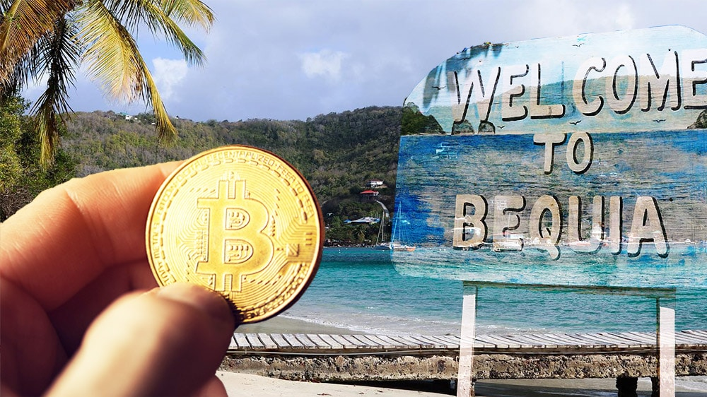 pagos criptomoendas bitcoin isla caribe Berquia esquivar restricciones bancos