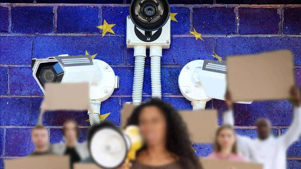 protesta Europa vigilancia biometrica vulnerabilidad privacidad