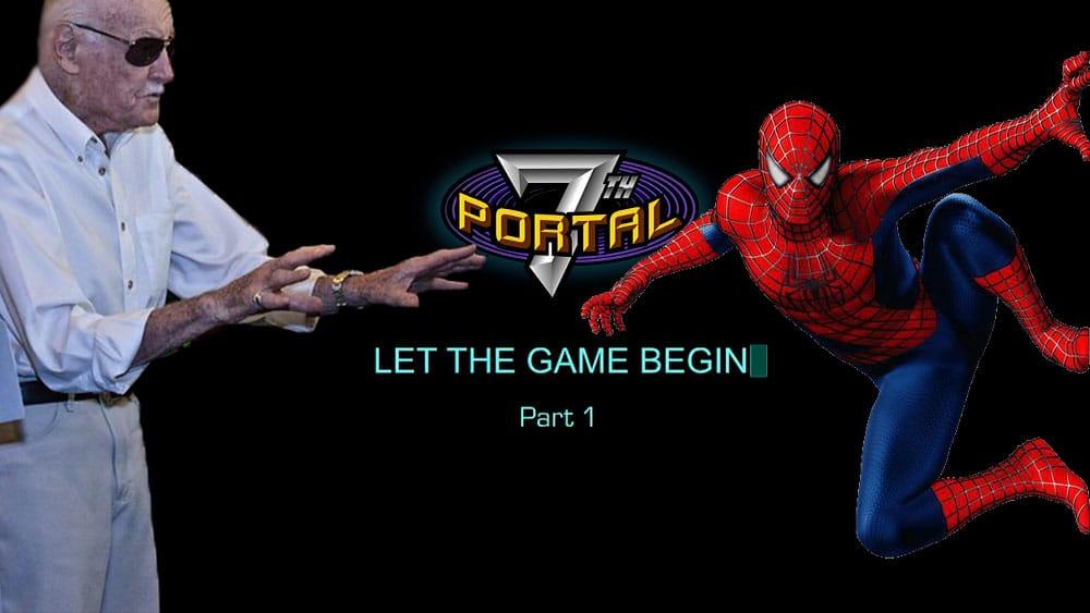 Stan Lee y Spiderman con logo de portal 7