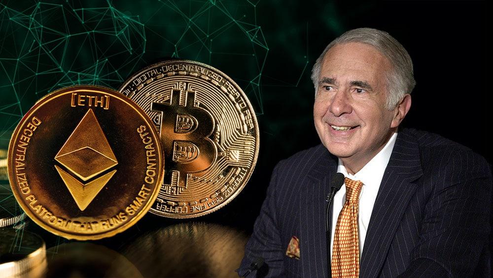 Carl Icahn con bitcoin y ether.