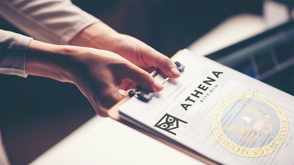 solicitud cotización publica bolsa estados unidos SEC Athena Bitcoin